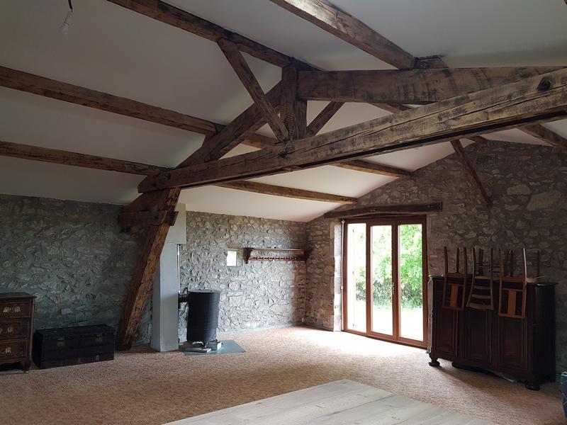 Coordination de travaux-Architecture d'intérieur-Réfection Maison Familiale secondaire- Tournon sur rhône-Ardèche-Séjour-cuisine ouverte (1)