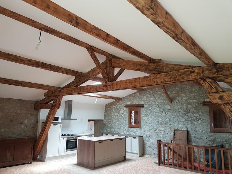 Coordination de travaux-Architecture d'intérieur-Réfection Maison Familiale secondaire- Tournon sur rhône-Ardèche-Séjour-cuisine ouverte (12)
