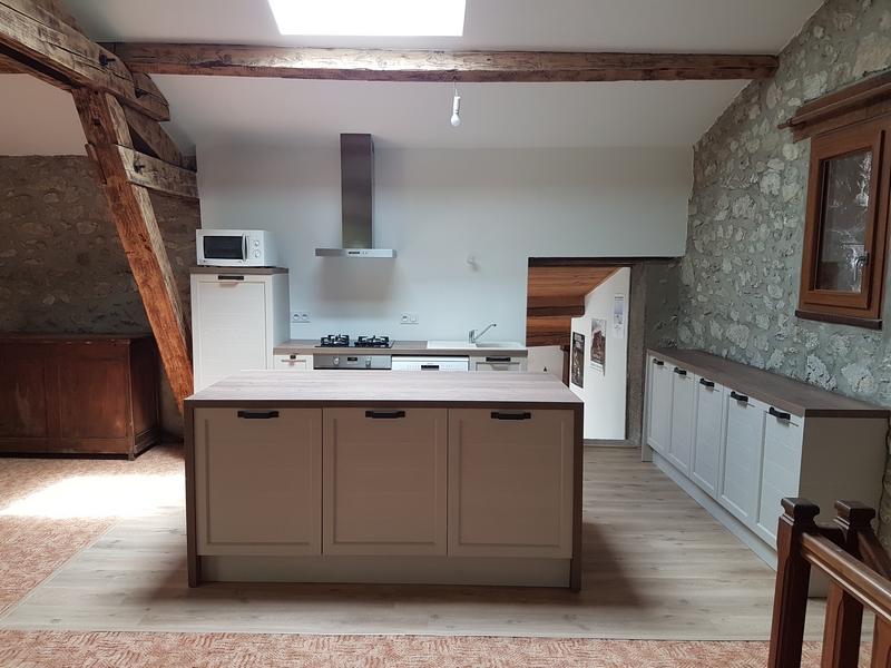 Coordination de travaux-Architecture d'intérieur-Réfection Maison Familiale secondaire- Tournon sur rhône-Ardèche-Séjour-cuisine ouverte (17)