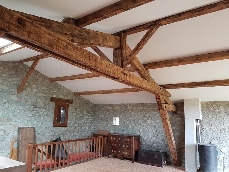 Coordination de travaux-Architecture d'intérieur-Réfection Maison Familiale secondaire- Tournon sur rhône-Ardèche-Séjour-cuisine ouverte (2)