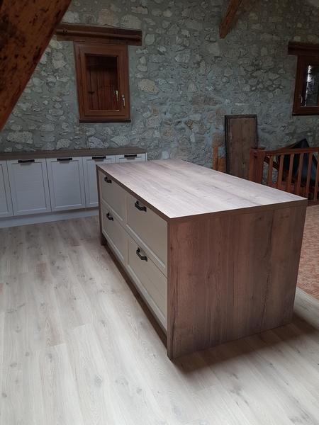 Coordination de travaux-Architecture d'intérieur-Réfection Maison Familiale secondaire- Tournon sur rhône-Ardèche-Séjour-cuisine ouverte (20)