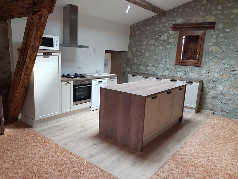 Coordination de travaux-Architecture d'intérieur-Réfection Maison Familiale secondaire- Tournon sur rhône-Ardèche-Séjour-cuisine ouverte (3)